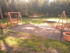 Fire Pit Bench Swings