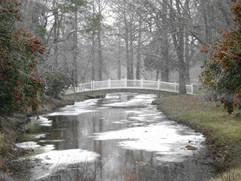 Byrd Park Bridge during Winter.