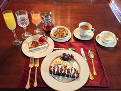 The multi course breakfast included in s