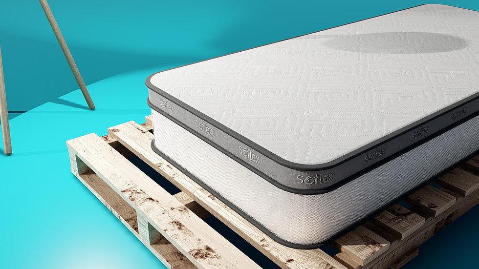 """SOFLEX® 10"""" Memory Foam Mattress + Silk Floss Topper"""