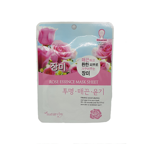 Natureby	Rose Essence Mask Sheet