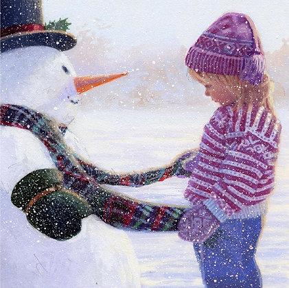 Charity Christmas Cards - Snowman's Scarf