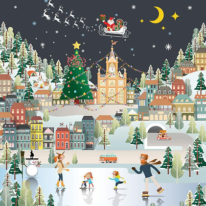 Charity Christmas Cards - Santa's Flight