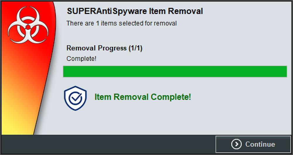 SAS Removal Screen