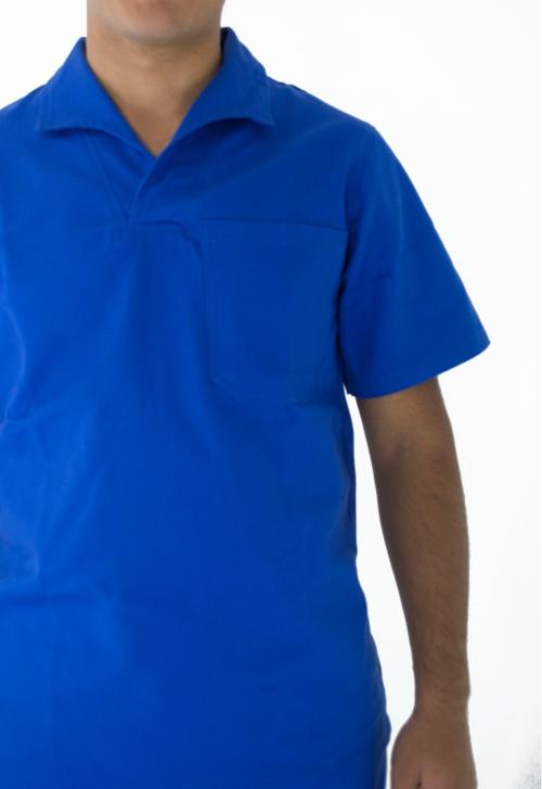 Polo Detalhes. Camiseta Gola V. Jaleco detalhes dfc4a2b6c6317