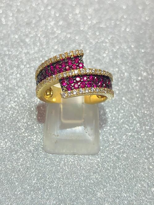New 18ct Gold Ruby & Diamond Ring