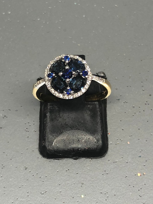 New 18ctDiamond &Sapphire Ring