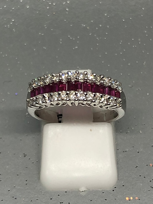 New 18ct Ruby & Diamond Ring