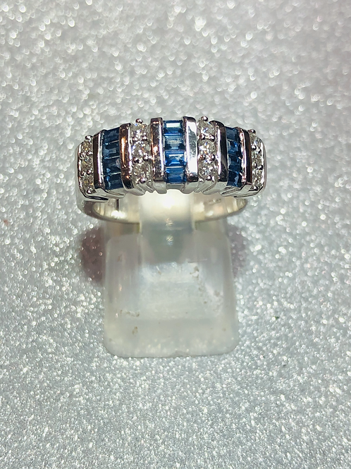 New 18ct Diamond & Sapphire Ring