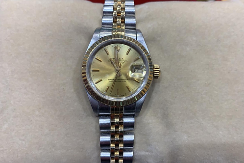 Ladies Rolex Datejust 18ct Gold & Steel Watch