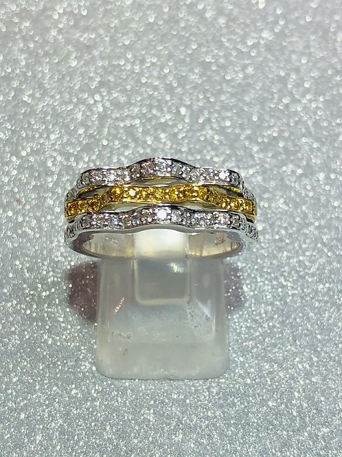 New 18ct Canary Diamond Ring