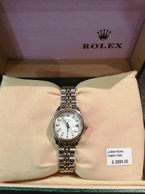 Ladies Rolex Oyster PerpetualDatejustGold & SteelWatch
