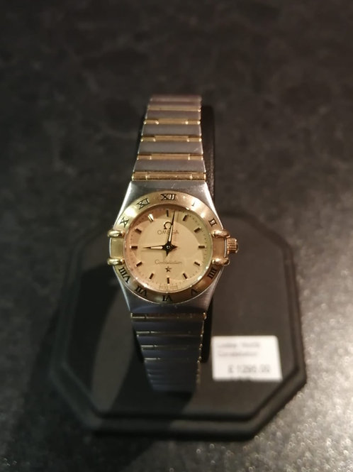 Ladies Omega Constellation 18ct Gold & Steel Watch