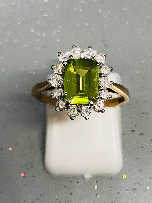 New 9ctPeridot & Diamond Ring