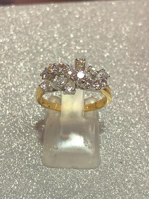 New 18ct Gold Pear 1.20 Carat Diamond Ring