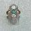 Thumbnail: New 9ct Gold Art Deco Emerald & Diamond Ring