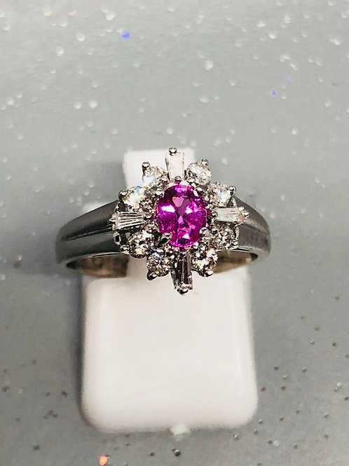 New 18ct Pink Sapphire & Diamond Ring