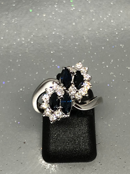 New 18ct Sapphire & Diamond Ring