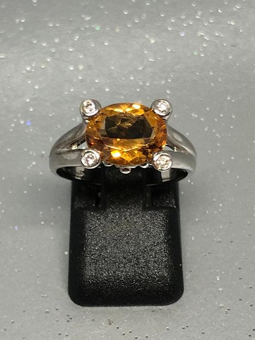 New 9ctCitrine &Diamond Ring