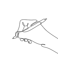 —Pngtree—hand writing continuous one lin