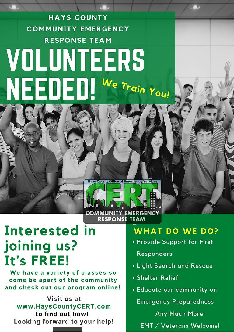 CERT need volunteers flyer.png