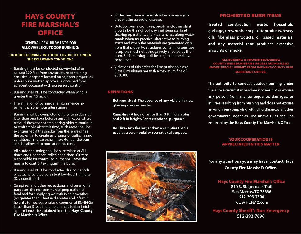 rules for outdoor burning