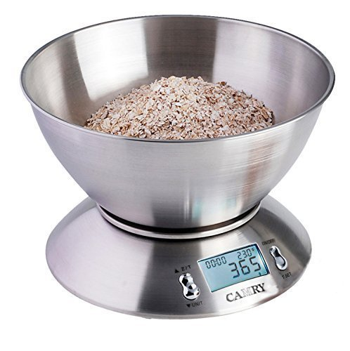 Camry High Accuracy Digital Kitchen Food Scale Mixing Bowl