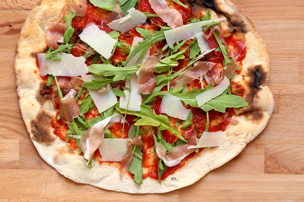Ham & Rocket Pizza