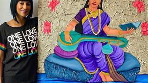 Art: Swaraswati - by Neena Buxani