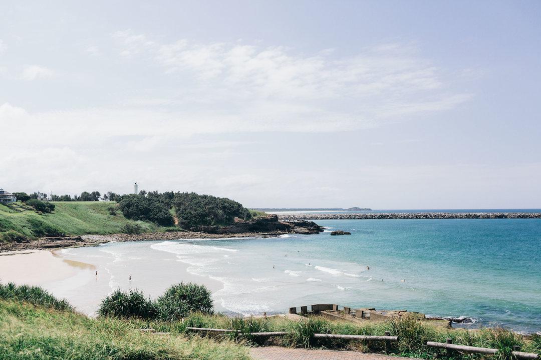 View from the carpark overlooking Main Beach, Yamba