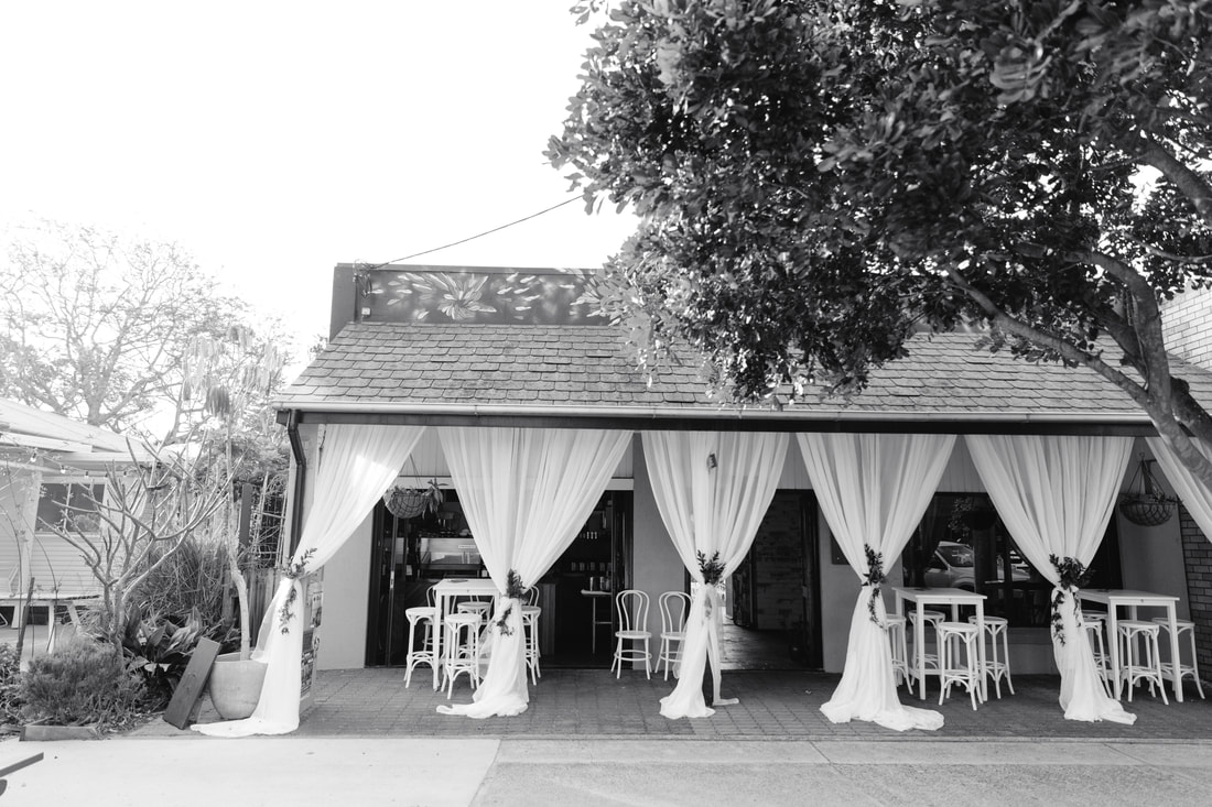 Entrance drapes by Yamba Weddings and Events