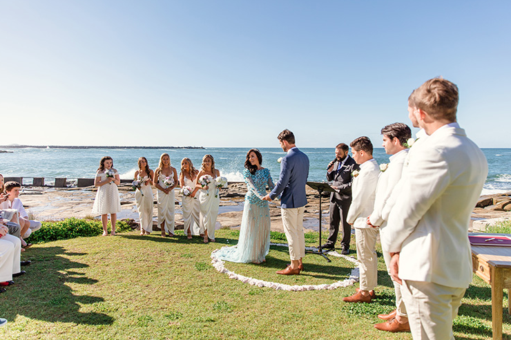 The perfect outlook for a wedding ceremony