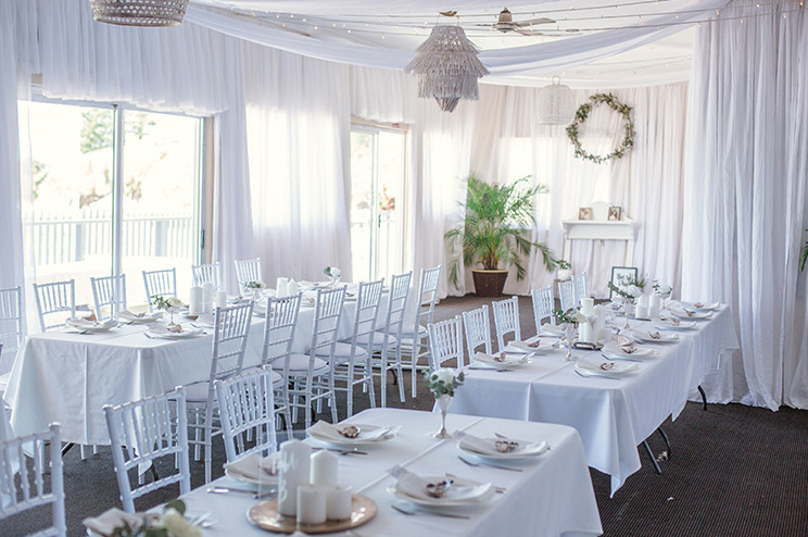 Styling by Ivy Lane and Co. Drapes and lighting done by Yamba Weddings and Events.