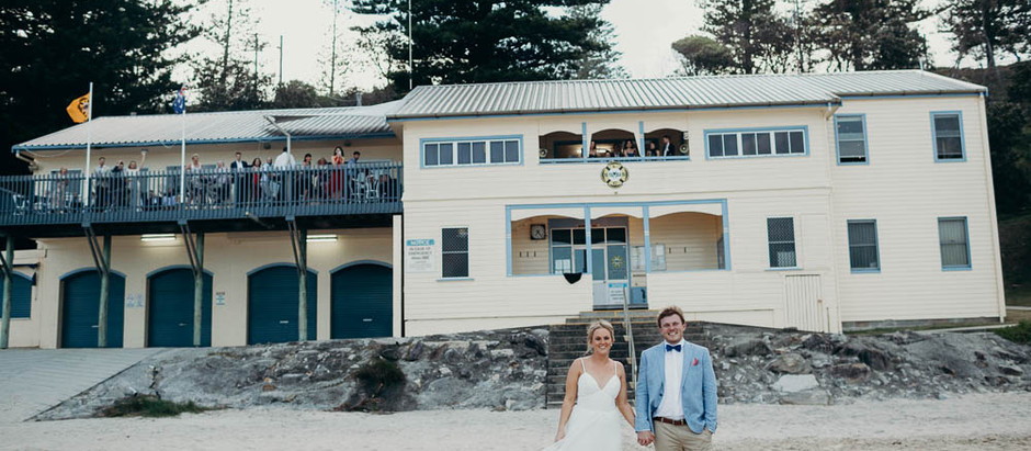 JEMIMA & SEAN'S YAMBA SURF CLUB WEDDING