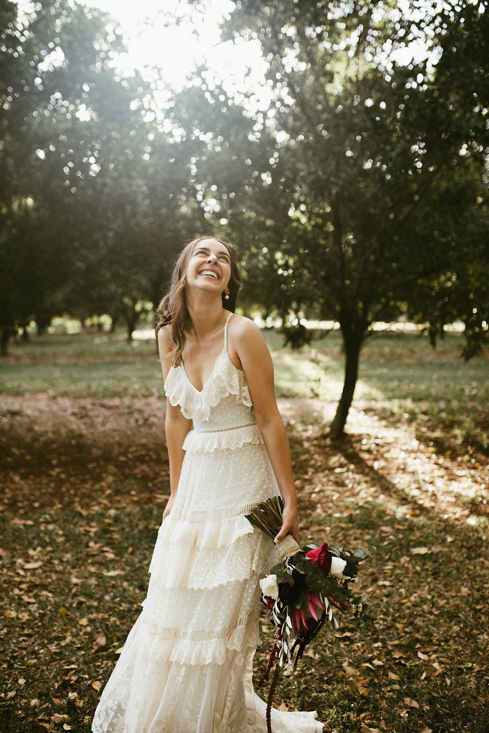 Ben Wyeth Photography bride in amongst the trees