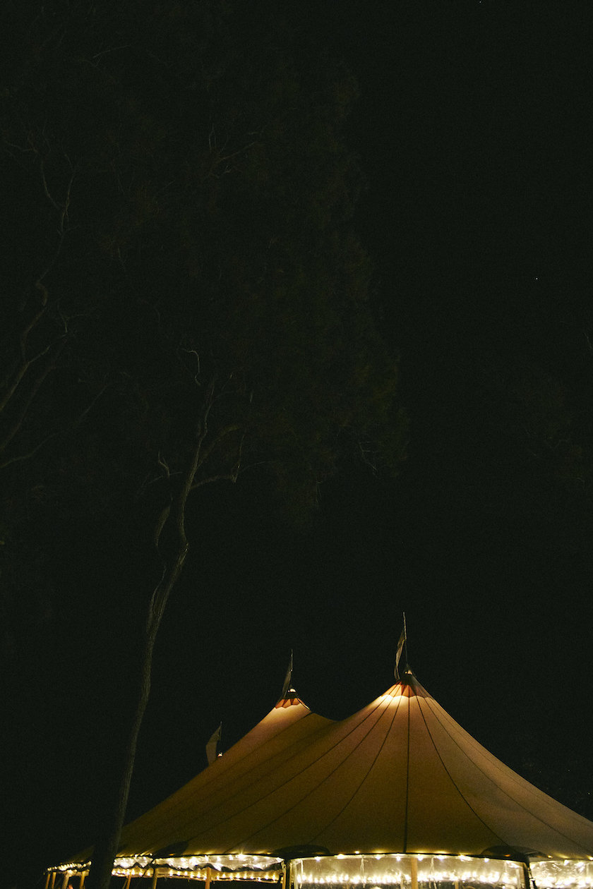 The lights bring to life the very impressive Sperry tent