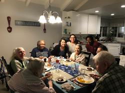 Pauline's Family visiting @ Dinner