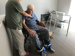 Visit from physical therapist