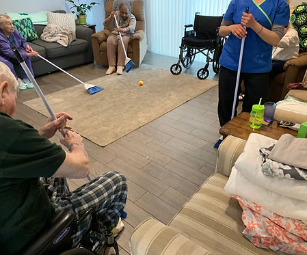 Broom ball activity