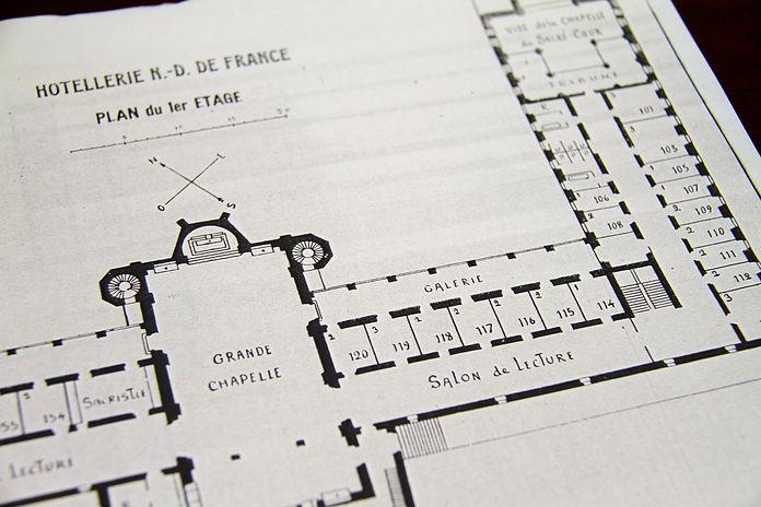 Original blueprint of the first level