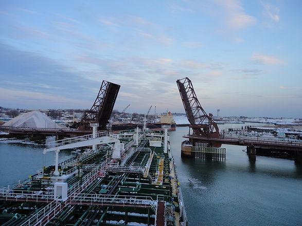 5. Vessel passing bridge on approaching berth.JPG