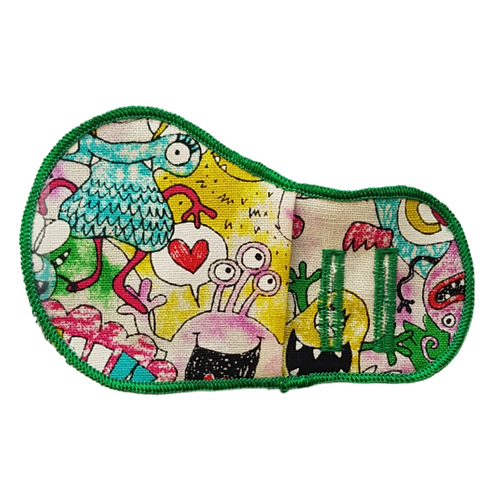 Green Boo Monsters Cloth Patch