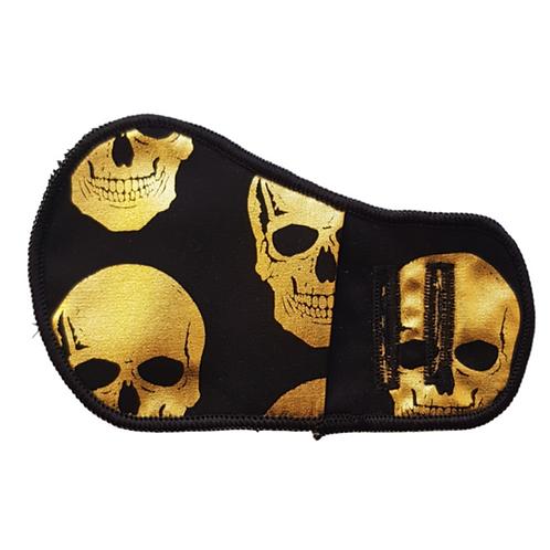 Golden Skulls Cloth Patch