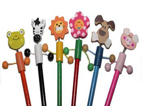 Dangly Animal Farm Pencils Set One