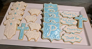 Christening CutOut Cookies