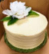 Simple Elegance Elopement Cake