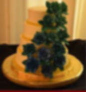 Tiered Wedding Cake w/Handmade Roses