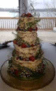 Naked Tiered Wedding Cake