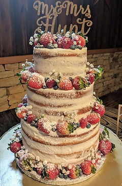 Naked Tiered Wedding Cake