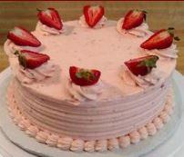 Chef Martha's Special Strawberry Fields Cake